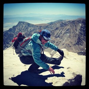 Working on my pistols at the summit of Mt. Whitney!